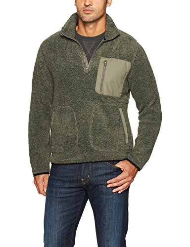 View Zip Heather Olive Fleece Pile Night Uomo Glacier Woolrich Da In Giacca Sherpa Half nFWaqtO0
