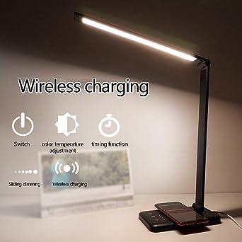 YHFX2Lámparas de escritorio LED de carga inalámbrica Lámpara de ...