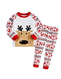 Susenstone 1Set Infant Baby Christmas Deer T-shirt Tops+Pants Outfits Clothes
