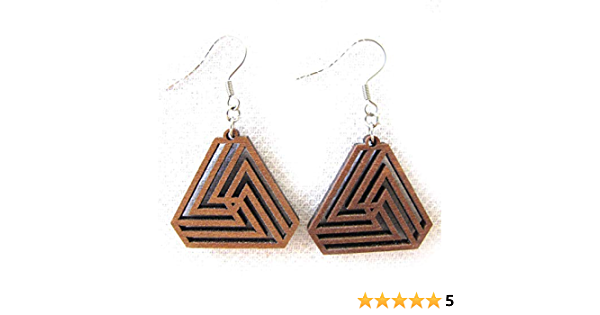 Iridescent Holographic Triangle Resin Dangle Earrings Geometric Jewlery
