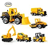 Mini Construction Vehicle Engineering Car Artificial Model Toy (Pack of 6) Playset Preschool Learning for Children Toddlers Kids Gift