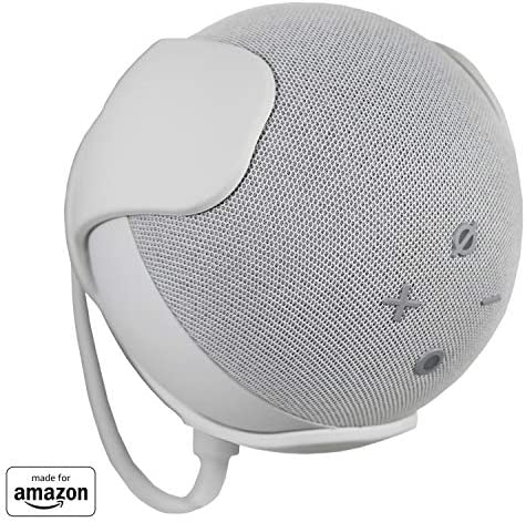 All New, Made For Amazon Wall Mount, White, for Echo Dot (4th generation)