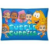 Custom Carton Bubble Guppies Kids Programming Rectangle Zipper Pillowcase Standard Size 20x30 Design Soft and Comfortable Pillow Cover (Twin Sides)