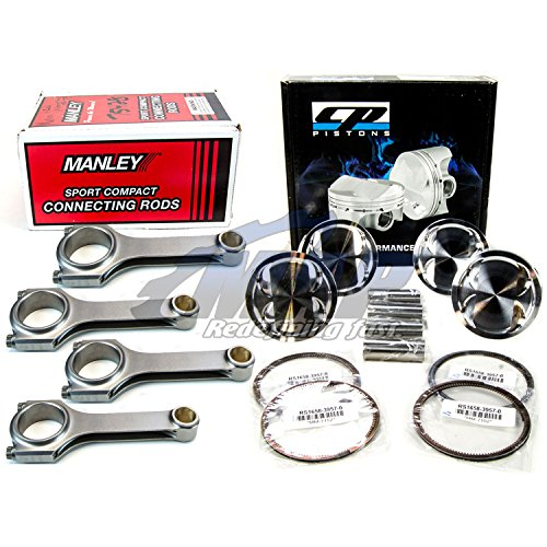 CP Pistons Manley H-Tuff Connecting Rods Kit 04-12 Subaru WRX STI EJ257 99.5mm
