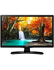 """LG 24MT49S-PZ - Monitor TV de 24"""" (60 cm, Smart TV LED HD, 1366 x 768 Pixels, Modo Cine, Modo Juego), Color Negro Brillante"""