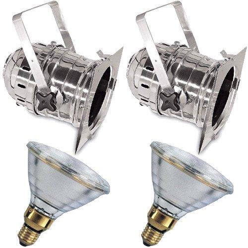 2 pcs. Short PAR38S + 2 pcs. BulbAmerica 90PAR38 FL Bulbs PD