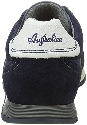 AUSTRALIAN Denzell Leather, Scarpe Stile Oxford Uomo Blu (Navy C00)