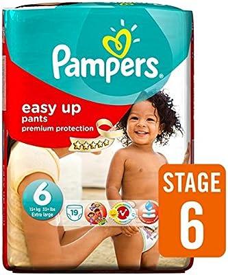 Pampers Easy Ups Pañales Tamaño 6 Carry Pack de 19 por paquete: Amazon.es: Salud y cuidado personal