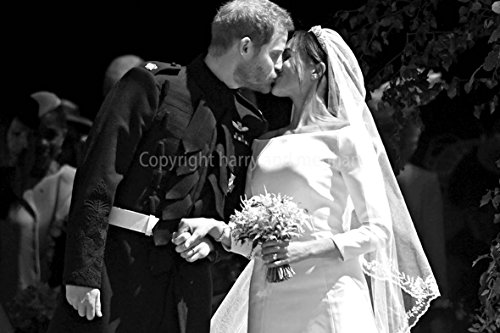 (Prince Harry Photograph a Photographic Print of Prince Harry and Meghan Markle royal wedding at Windsor Castle Berkshire England United Kingdom landscape photo b/w picture fine art print (12