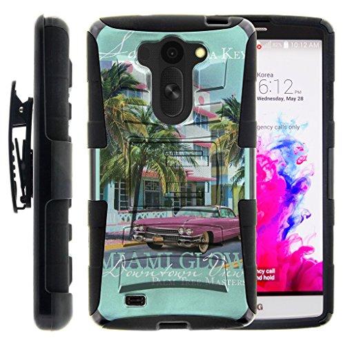 TurtleArmor | LG G Vista Case | LG G Pro 2 Lite Case [Hyper Shock] Hard Reinforced Rugged Impact Gel Hybrid Cover Holster Belt Clip Kickstand - Miami Beach Florida
