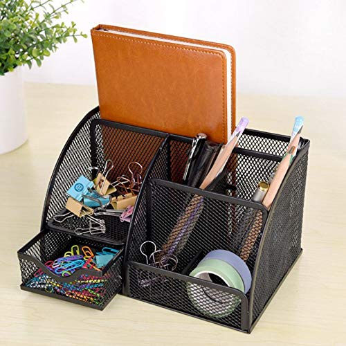 Nrpfell 1pcs Office Stationery Multi-Function Stationery Pen Holder Grid Storage Box by Nrpfell (Image #5)