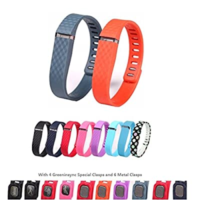Greeninsync Fitbit Flex Wristband Wrist Band Bracelet with Clasp Replacement Accessory for Fit bit Flex Activity and Sleep Tracker