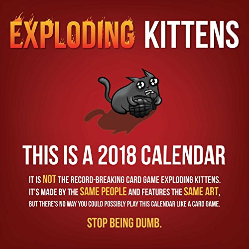 Exploding Kittens 2018 Wall Calendar