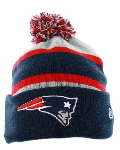 The New Era New England Patriots NFL On Field Sport Knit Winter Hat Navy Blue/Red/Grey Size One Size New Era Winter