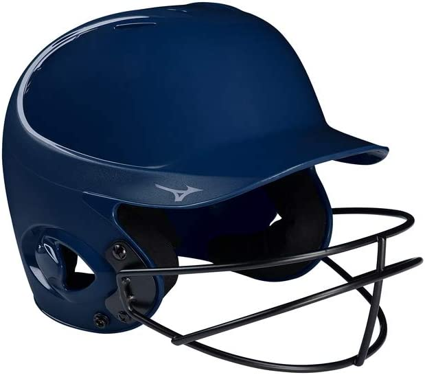 Large//X-Large Navy Mizuno MVP Series Solid Batting Helmet with Fastpitch Softball Mask
