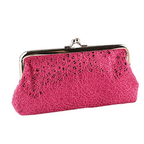 Wallet Pink Wedding Clutch Party Hasp Evening Hot Women Handbag Purse Kemilove Sequins wFq8PUZ