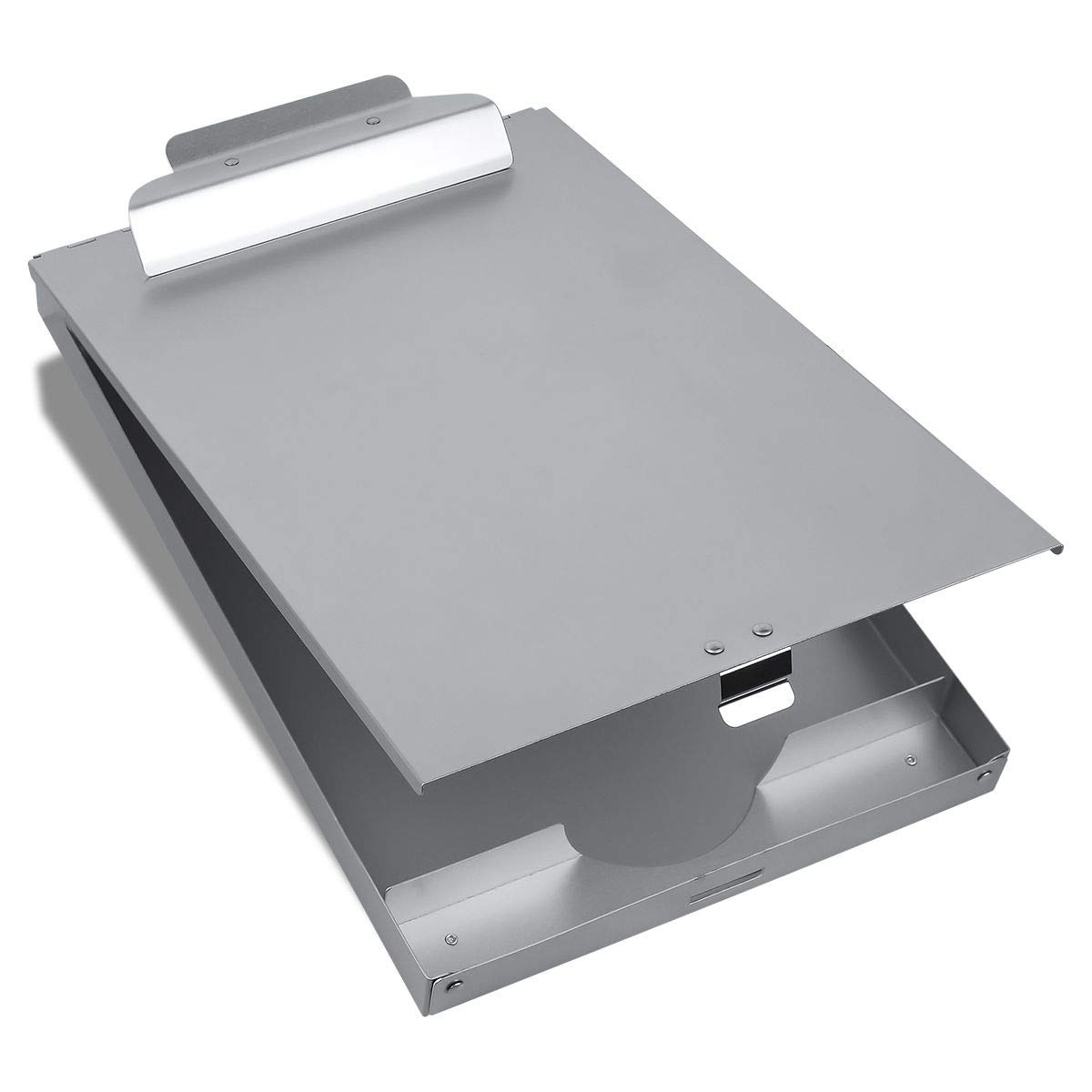 Metal Clipboard with Storage Form Holder Portfolio Aluminum Metal Binder with High Capacity Clip Posse Box Self Locking Latch -14 x 9.5 inch Size Clipboard for Office Business Professionals Stationer