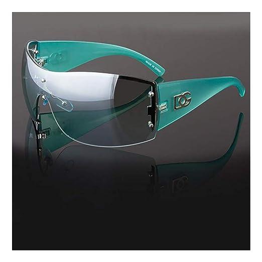 b733beb0e9 Amazon.com  DG Womens Large Oversized Shield Wrap Sunglasses Designer  Fashion Shades  Clothing