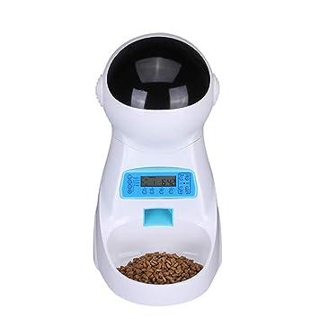 MUTANG Alimentador automático para gatos Alimentador para dispensadores de alimentos para mascotas 4 Comidas para Cat Temporizador para perros Programable, ...