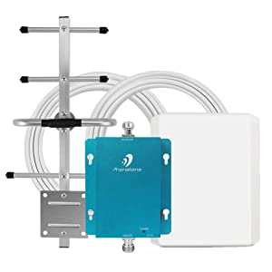 GSM 3G Cell Phone Signal Booster for Home and Office - 850MHz Band 5 Cellular Repeater with Directional Panel/Yagi Antennas - Boost Voice, Text and 3G Data Up to 4,500Sq Ft Area