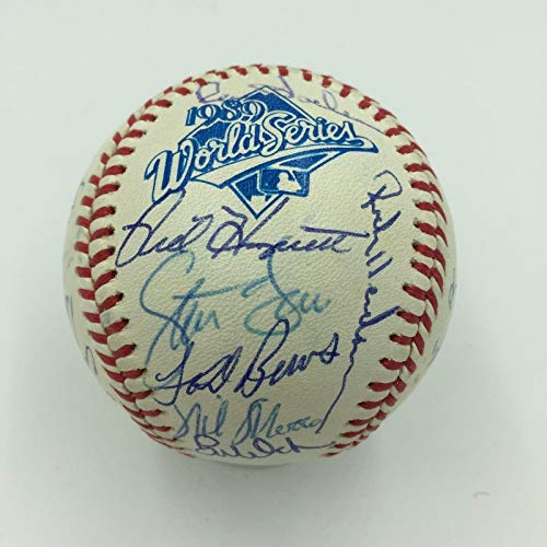 1989 Oakland A's Athletics World Series Champs Team Signed WS Baseball COA - JSA Certified - Autographed Baseballs