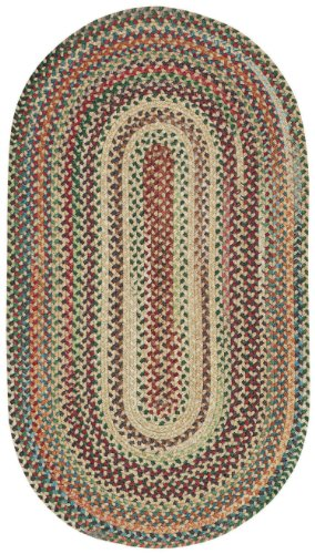 Capel Rugs Sherwood Forest Oval Braided Area Rug, 7' x 9', Amber - Amber Rug Rug