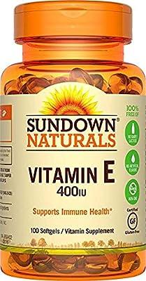 Sundown Naturals Vitamin E 400 IU Di-Alpha, 100 Synthetic Softgels