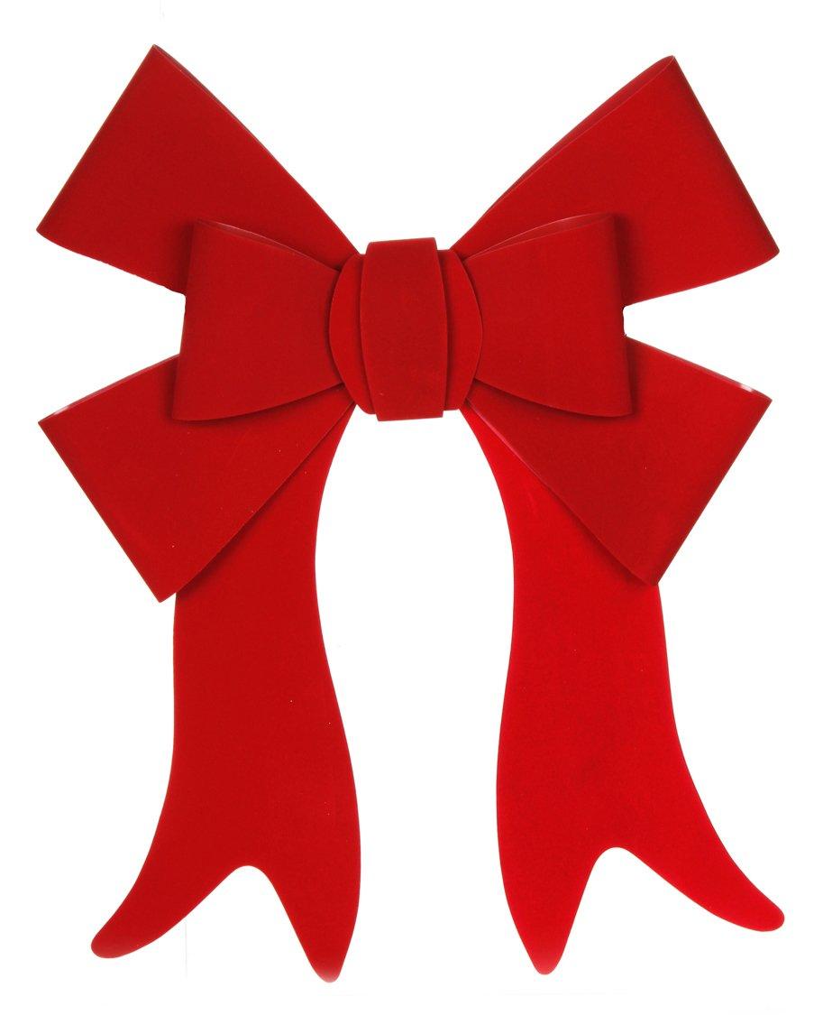 Darice Christmas Velvet Bow PVC Red 19inx22in 7 Loops