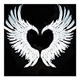CafePress - Angelwings Heart Square Car Magnet 3