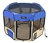 EliteField 2-Door Soft Pet Playpen - Exercise Pen - Multiple Sizes and Colors Available for Dogs - Cats and Other Pets (30