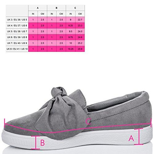 SPYLOVEBUY KEFIR Mujer Plataforma Planos Zapatos de salón Gris - Gamuza Sintética