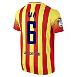 XAVI #6 FC Barcelona Away Jersey 2013/2014 (L)