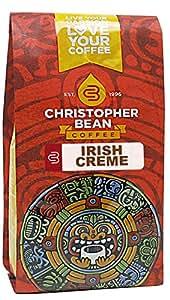 Christopher Bean Coffee Decaffeinated Whole Bean Flavored Coffee, Irish Creme, 12 Ounce