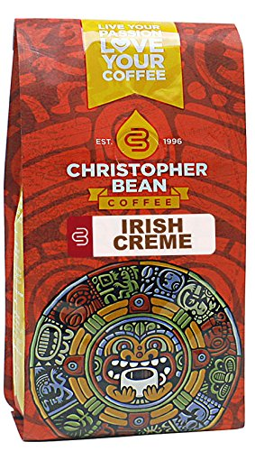 Christopher Bean Coffee Flavored Decaffeinated Ground Coffee, Irish Creme, 12 Ounce (Packaging may (Creme Flavored Regular Coffee)