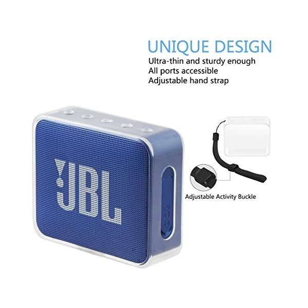 Pushingbest Carry Case for JBL GO Ultra Portable Rechargeable Bluetooth Speaker (GO 2- TPU) 4