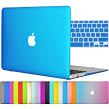 "Easygoby 2in1 Matte Frosted Silky-Smooth Soft-Touch Hard Shell Case Cover for 13-inch MacBook Air 13.3"" (Model:A1369 / A1466) + Keyboard Cover - Aqua Blue"