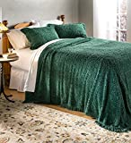 Plow & Hearth Wedding Ring Tufted Chenille Queen Bedspread - Evergreen - 102 L x 110 W x 0.25 H