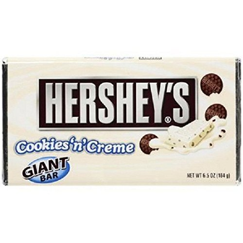 Hershey's Cookies 'n' Creme Bar, 6.5-Ounce Bars (Pack of 6)]()