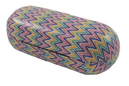 "Women's Hard, Bullet Tribal Zigzag Pattern Snap Sunglass Case (6.50""x2.5"") (Primary)"