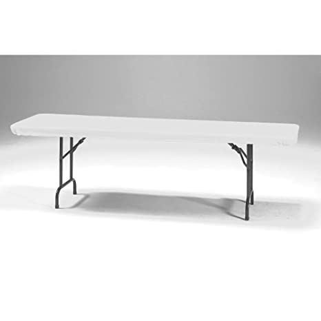 Amazoncom Creative Converting Stay Put Elastic Tablecloth White - Outdoor rectangular coffee table cover