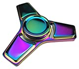 Ouflow New Style Fidget Hand Spinner Stress Relief Anxiety Stress Relief Toy, Multi Color Painted, Metal - Purple wellknown