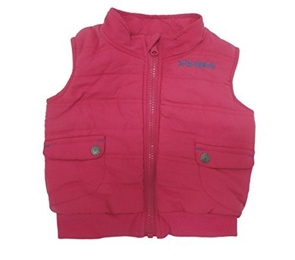 Bright Bots 18/24m Baby Girl Gilet Pink Bodywarmer Jacket