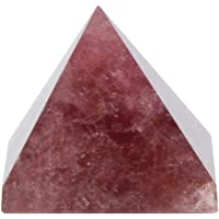 Cafopgrill Torre de curación de energía de pirámide de Cuarzo de Cristal Natural 100% Adorno de decoración del hogar…