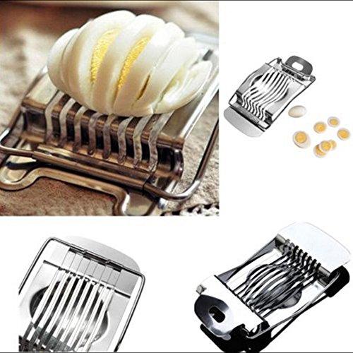 Maphissus Stainless Steel Egg Slicer Boiled Egg Slicer Cutter Cutting Wires Multi Purpose Slicer Mushroom Tomato Kitchen Chopper