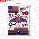 Kungfu Graphics US America Flag United States Micro Sponsor Logo Racing Sticker Sheet Universal (7.2x 10.2 inch), Red Blue
