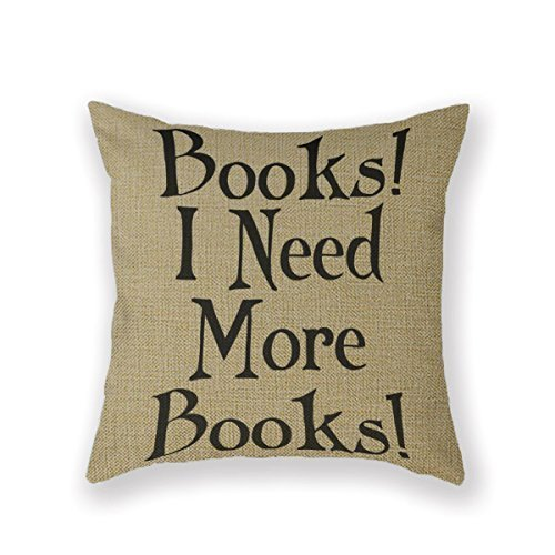 SIXSTARS Book Club Reading Group Reading Book Group Throw Pillow 16 X 16 Square Cotton Linen Pillowcase Cover Cushion from SIXSTARS