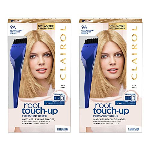 Clairol Nice 'n Easy Root Touch-Up 9a Matches Light Ash Blonde Shades 1 Kit, (Pack of 2) (PACKAGING MAY -