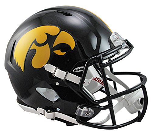 Riddell Sports NCAA Iowa Hawkeyes Speed Authentic Helmet, Black