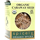Spicely Organic Caraway Seeds Whole 0.35 Ounce ecoBox Certified Gluten-Free