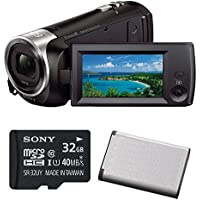 Sony HD Video Recording HDRCX405 HDR-CX405/B Handycam Camcorder (Black) with Sony 32GB Memory Card & Replacement Battery